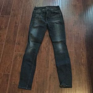 Seven Black High Waist Skinny Jeans